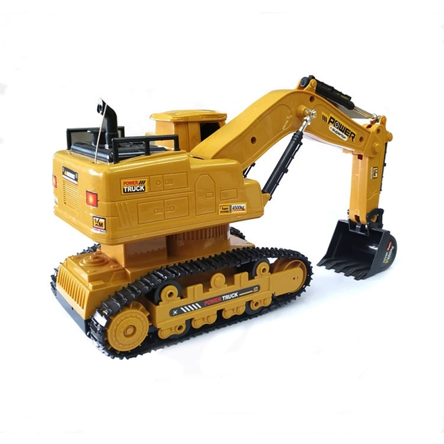 RC Excavator Simulation Engineering Tractor Car Toy 10CH Boy Remote Control Toy Child Christmas Gift RC Truck 4