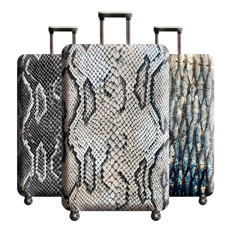 Travel Accessories Snake Luggage Cover Suitcase Elastic Protective Covers Trolley Luggage Dust Case For 18-32 Inch Suitcase Case