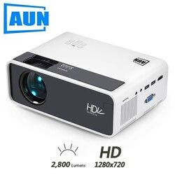 AUN جهاز عرض صغير D60S ، 1280x720P ، أندرويد 6.0 واي فاي بلوتوث ، LED Proyector للسينما المنزلية 1080P ، متعاطي المخدرات الفيديو ، اختياري D60