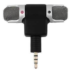 Mini 3.5mm Jack Microphone Stereo Mic For Recording Mobile Phone Studio Interview Microphone For smartphone High Performance