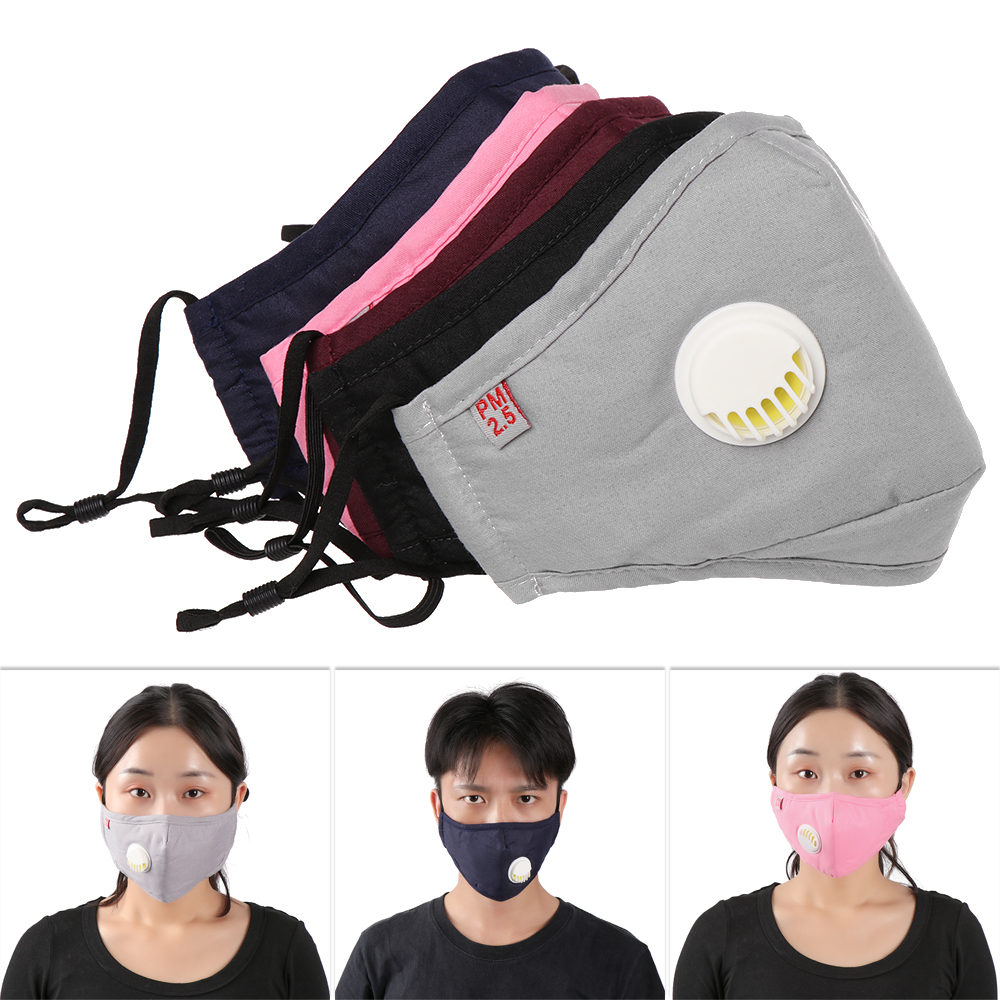 Anti Haze Mask Breathable Cotton PM2.5 Filter Breath Valve Anti-dust Mouth Mask Activated Carbon Filter Respirator Mask Face Hot
