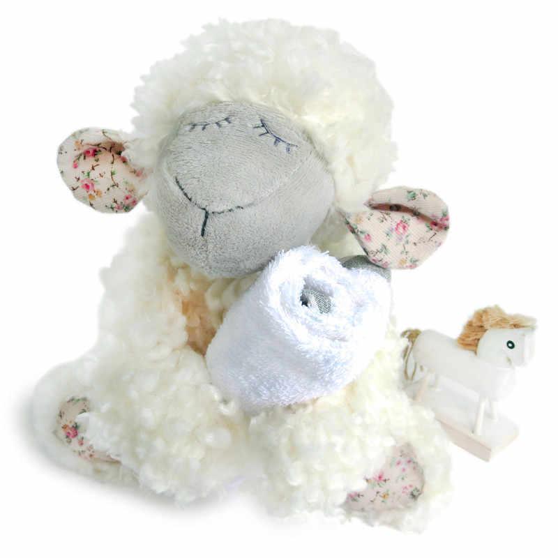 الفاخرة 20 سنتيمتر الأغنام الأبيض ألعاب من القطيفة عالية الجودة لينة منفوش الضأن دمية هدية محشوة الحيوانات لطيف الكلاسيكية عناق لعبة للأطفال