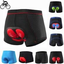 Ropa interior de ciclismo para hombre y mujer, pantalones cortos acolchados 5D de LICRA 100% a prueba de golpes para bicicleta de montaña o de carretera, 2020
