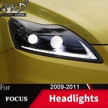 Lampa czołowa do samochodu Ford Focus 2009-2011 Focus MK2 reflektory światła przeciwmgielne światła do jazdy dziennej DRL H7 LED Bi Xenon żarówki akcesoria samochodowe