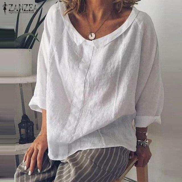 Summer Tunic Vintage Linen Blouse 1