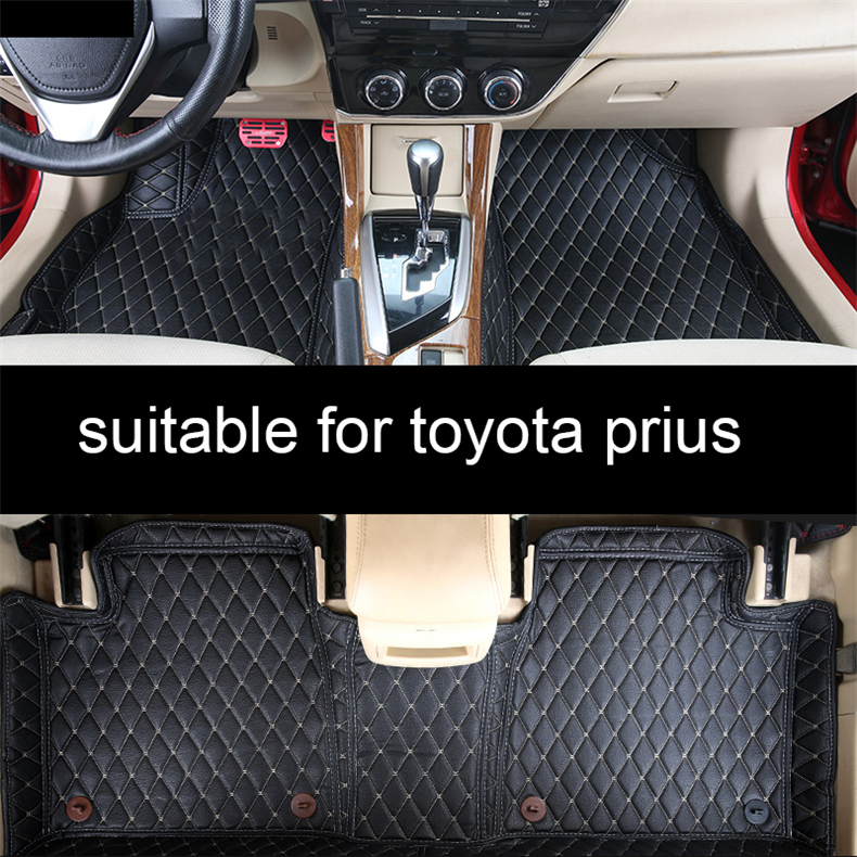 leather car floor mats for <font><b>toyota</b></font> prius venza <font><b>4runner</b></font> accessories styling 30 20 2010 <font><b>2012</b></font> 2016 2007 2008 parts image