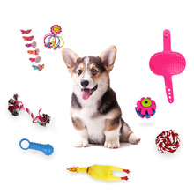 16pcs Dog Toy Interactive Rubber Balls Pet Dog Cat Puppy Clean Teeth Ball Dog Chew Sound Toys Tooth Cleaning Balls Toys For Dog pet dog toys rubber ball random color pet dog cat puppy chew toys ball teeth chew toy tooth cleaning balls food products for pet