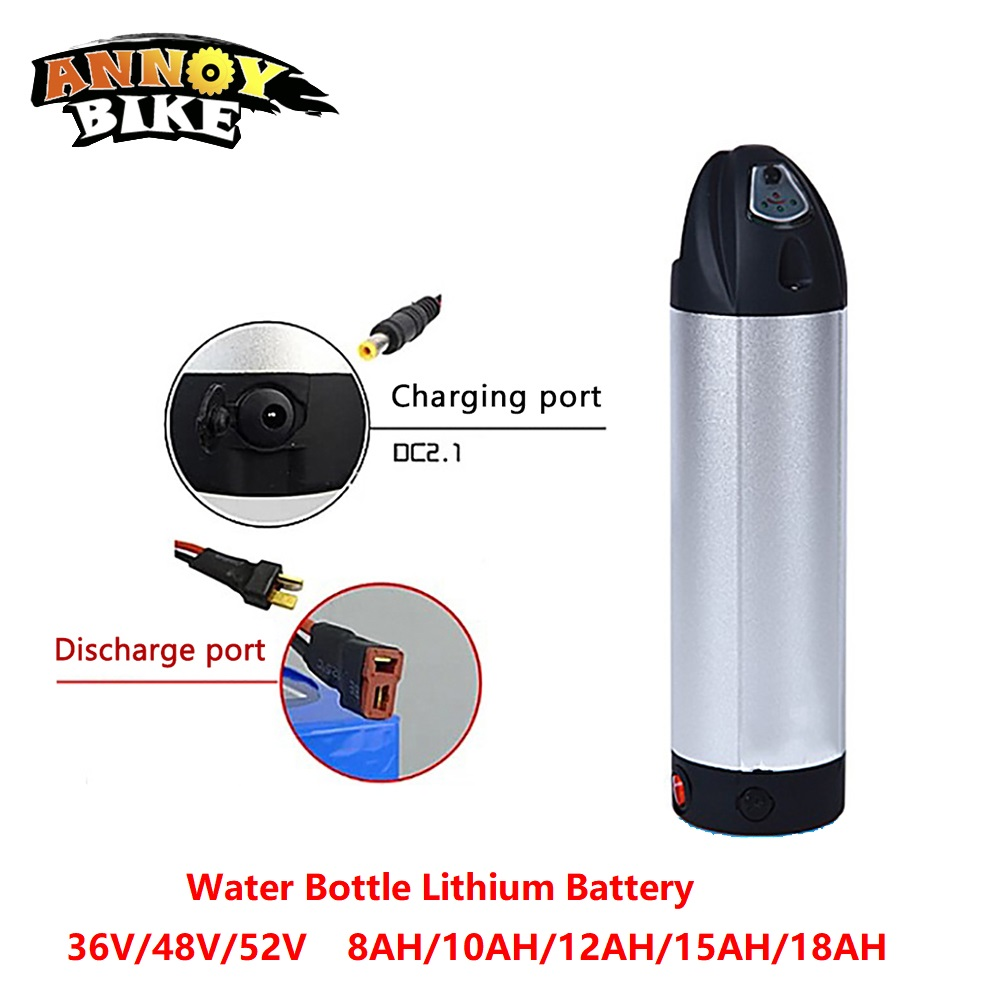Water Bottle Lithium Battery 36V48V52V 8/10/12/15/18AH Electric Bike Lithium ion eBike Battery Bike Scooter With Charger|Electric Bicycle Battery| |  - title=