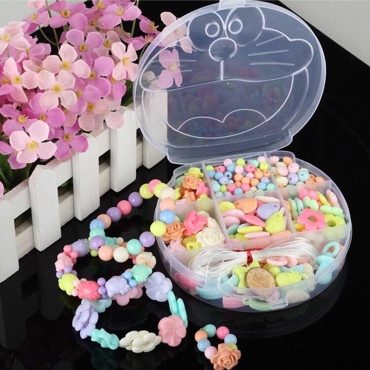 1317 Kitten Children Beaded Bracelet DIY Suit Send Lanyard Weak Sight Training GIRL'S Handmade Bead Educational Play