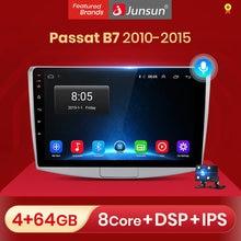 Junsun v1 2g + 32g android 10.0 dsp para passat b7 2010-2015 rádio do carro reprodutor de vídeo multimídia navegação gps 2 din dvd sem cd