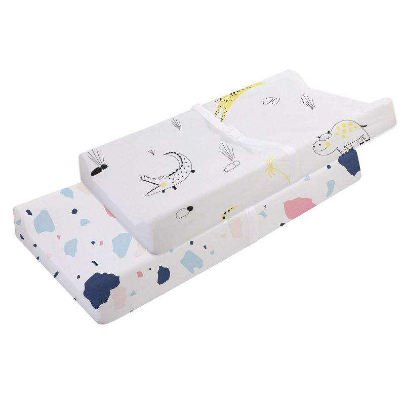 Эластичный чехол для пеленального столика-2 шт. в упаковке, эластичный чехол для пеленального столика для мальчиков и девочек, 89*44 см, простыня для кроватки - Цвет: CLS0046-4-1