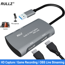 Video-Capture-Card Switch Live-Streaming-Box Audio Hdmi-Compatible 1080P Laptop XBOX