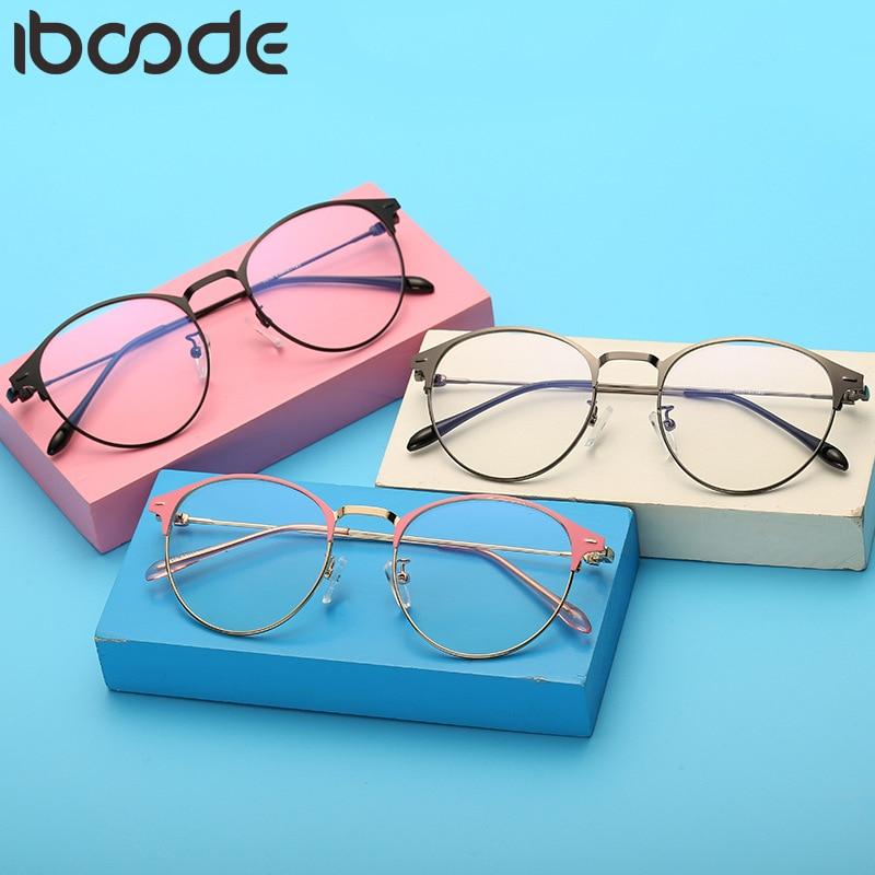 Spectacles Eyeglasses Frames Metal Plain 2019 Glasses Optical Eyebrows Rivet Classes Nearsighted