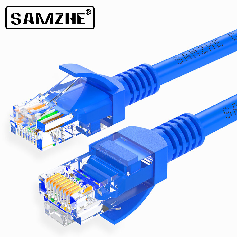 SAMZHE Cat5e Ethernet Patch Cable 1.5 Feet - RJ45 Computer,PS2,PS3,XBox Networking LAN Cords ethernet cable