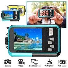 1080P Full HD Underwater Camera 24 MP Video Recorder Selfie Dual Screen DV Recor