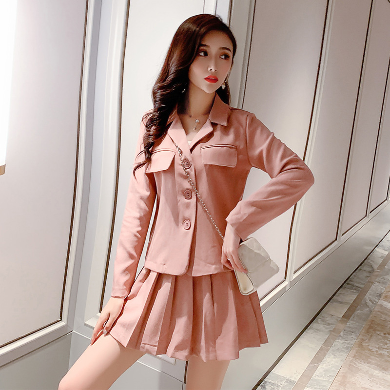 Photo Shoot Online Celebrity Young-Style Women's Summer Korean-style Two-Piece 2019 New Style Western Style Suit Best Friend Sis