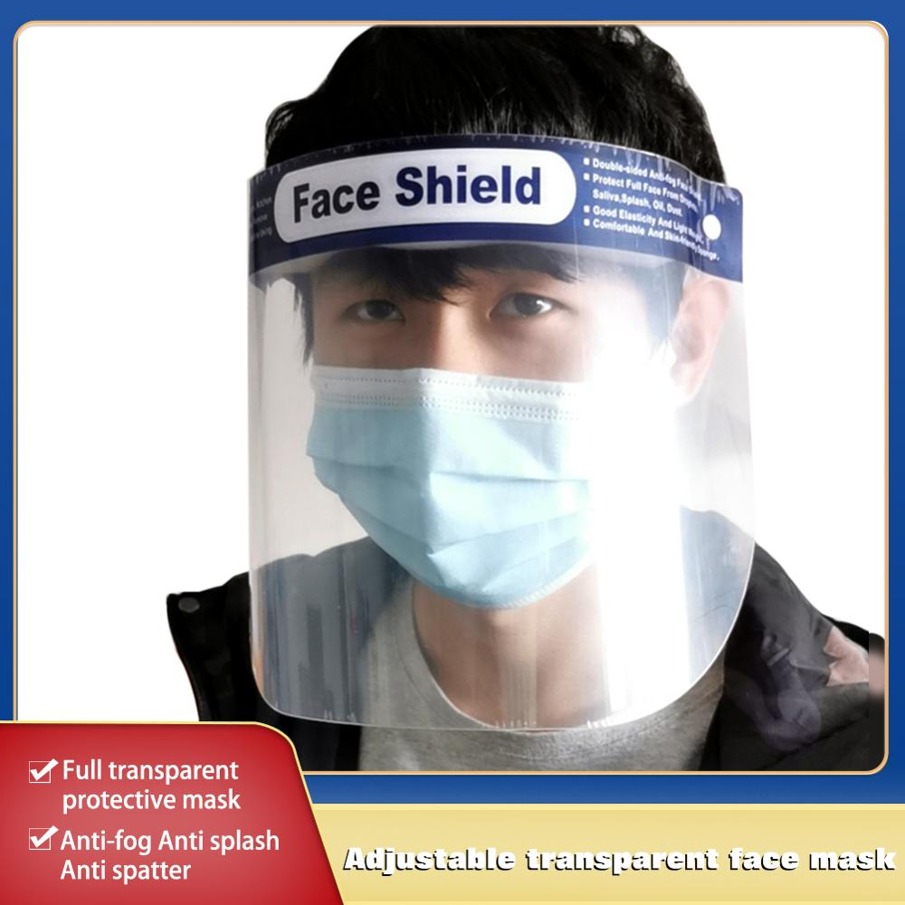 10PCS Face Shield Protective Mask Adjustable Clear Face Mask Anti-Fog Anti-Droplets Full Protection Transparent Hat Face Shield