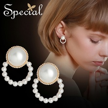 Special European and American S925 Tremella needle ear ring nail no hole clip buckle lining skin sugar girl