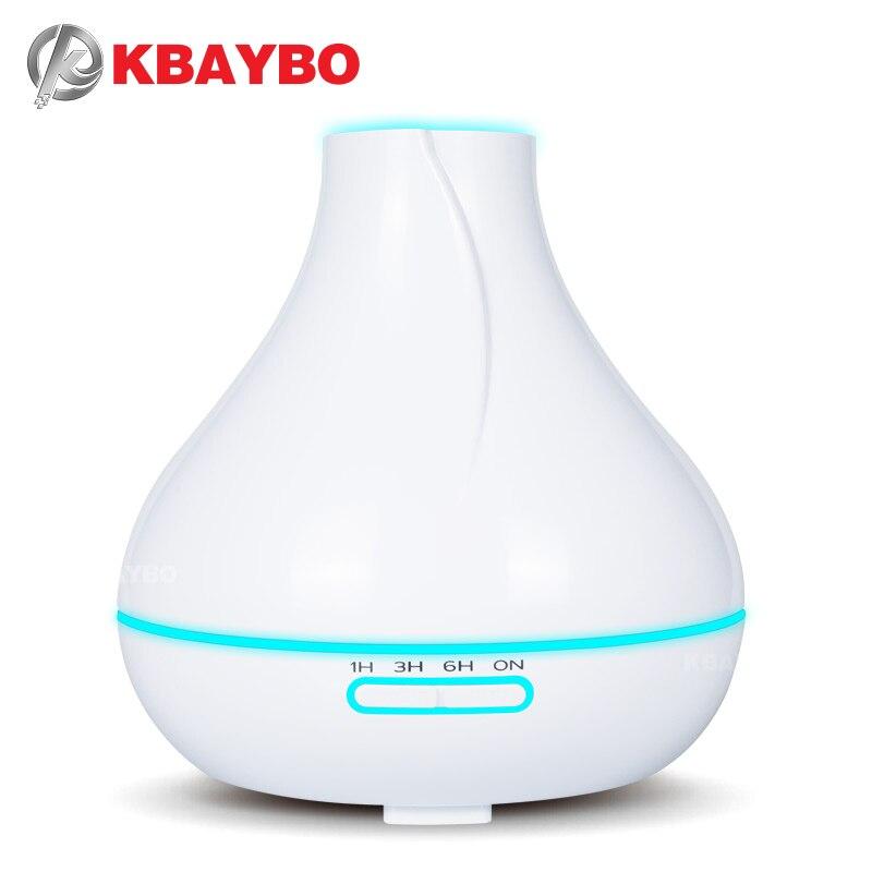 Ev Aletleri'ten Nemlendiriciler'de KBAYBO 400ml düz üst damla nemlendirici beyaz uçucu yağ AROMA YAYICI 7 renk LED seçenek aromaterapi yatak odası kullanımı title=