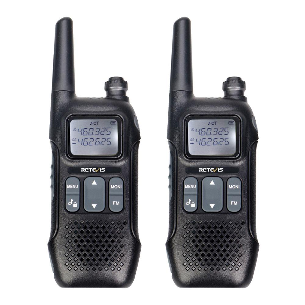 Retevis RT616 RT16 PMR Walkie Talkie 2 Pcs Family Use Emergency Radio VOX NOAA Weather Alert FM Radio Two Way Radio PMR446 FRS