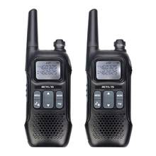 Walkie Talkie 2 uds Retevis RT16 PMR446 Uhf Radio de dos vías VOX NOAA Weather alerta de carga USB de dos Radio PMR Walkie Talkie(China)