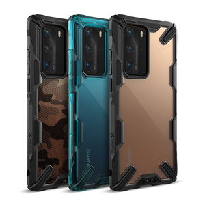 Ringke Fusion X for Huawei P40 Pro Case Dual Layer Heavy Duty Drop Protection PC Clear Back Cover and Soft TPU Frame Hybrid
