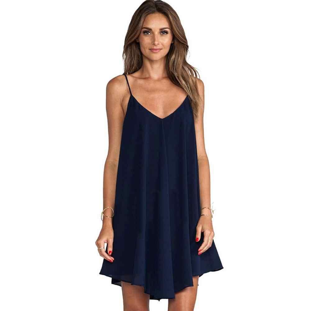 2019 חם שמלה סקסית ואלגנטי גדילים גל דפוס שמלה עמוק V-צוואר סקסי ללא משענת ללא שרוולים חוף נשים של שמלה