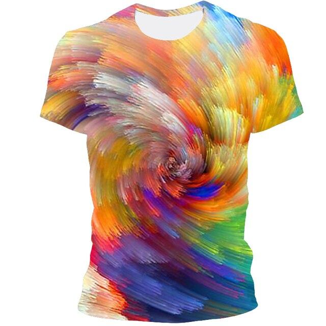 Мужская футболка 3D принтом чёрная дыра 3