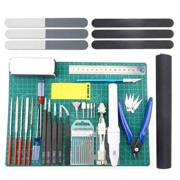 33 PCS Model Tools Kit Modeler Basic Tools Craft Set Hobby Building Tools Kit for Gundam Car Model Building Repairing and Fixing цена 2017