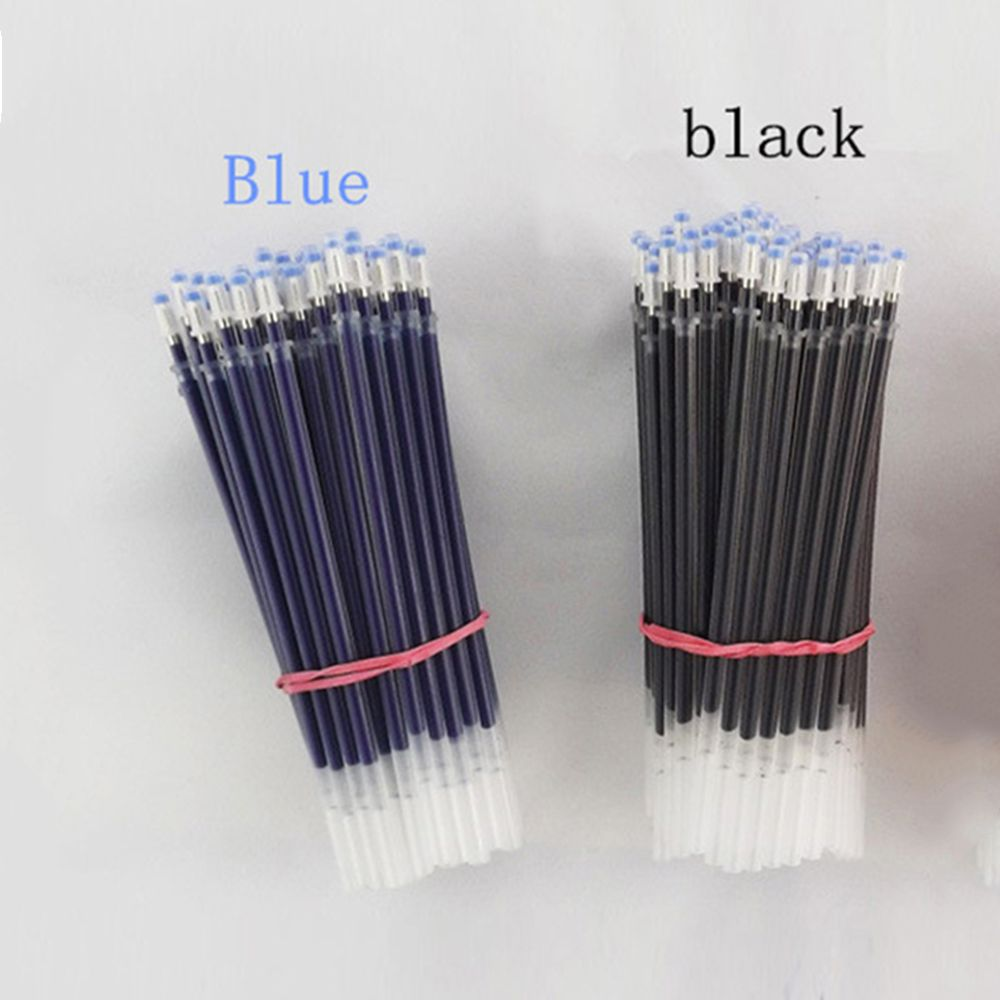 5 Pcs / Bag 0.5 Mm Gel Pen Pens Office Signature Color Pens Blue Black Ink Refill Office School Stationery Supplies Writing