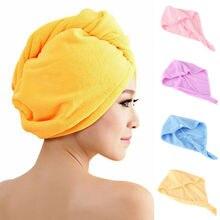 Новое Женское быстросохнущее полотенце для волос Плюс Толстая Абсорбирующая шапочка для душа быстрая мягкая спа ванна
