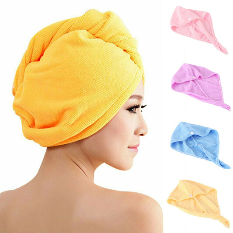 2019 New Women Rapid Drying Hair Towel Plus Thick Absorbent Shower Cap Fast Soft Spa Bath