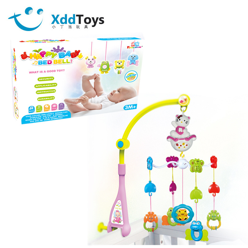 Newborns Baby Music Rotating Bed Bell Infants Wind Chime Bedside Bell Rattle Rotary Table Toy
