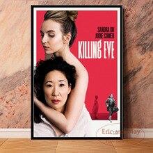 Killing Eve serie de televisión caliente arte pintura Vintage lienzo cartel pared decoración para el hogar