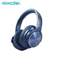 Mixcder E9 PRO aptX LL słuchawki bezprzewodowe Bluetooth aktywne słuchawki z redukcją szumów USB szybki ładowanie z mikrofonem niebieskie zestawy słuchawkowe