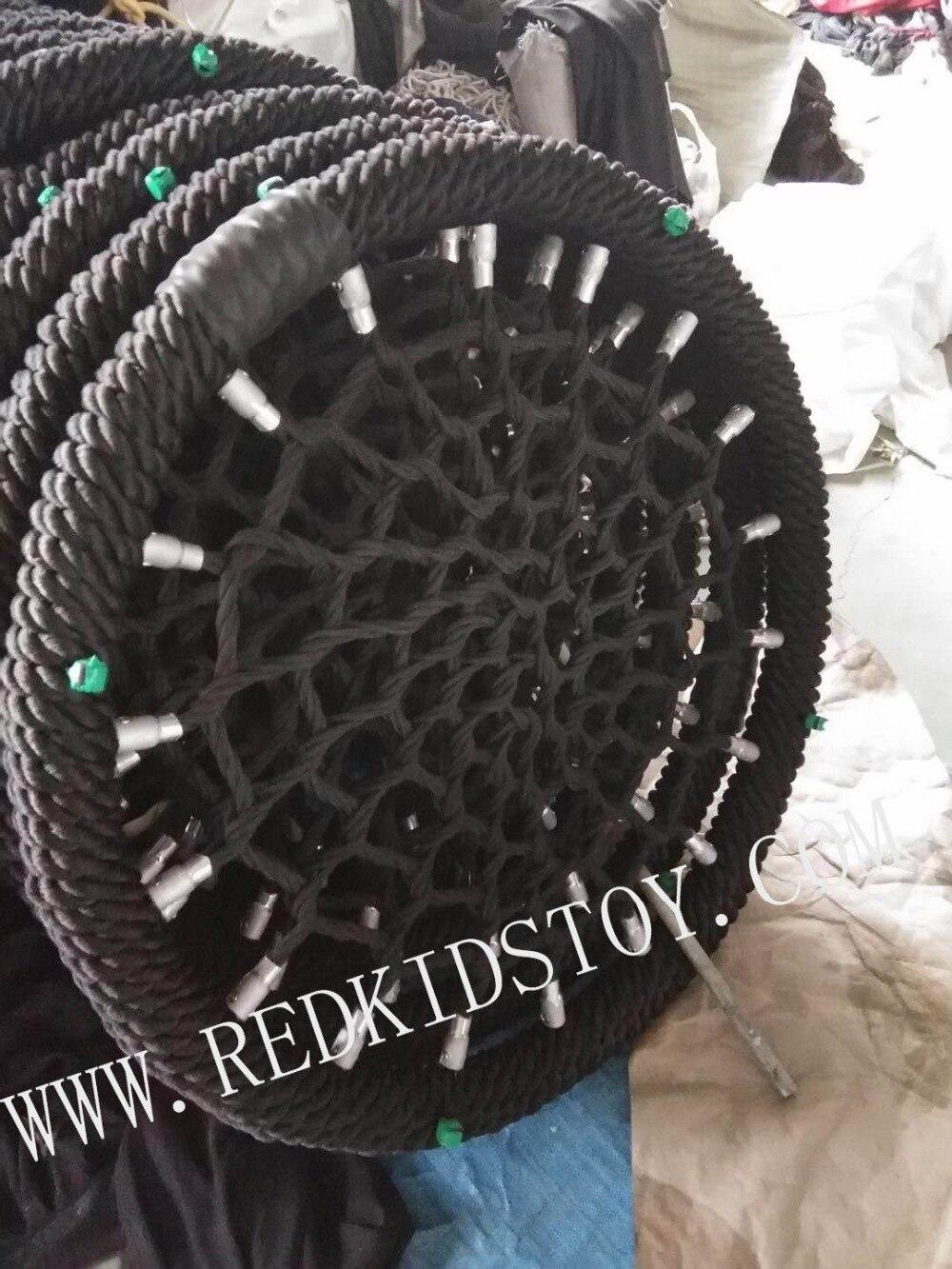 Resistente do Assento do Balanço do Ninho do Pátio Diâmetro Corda Tree Swing Seat 80cm Net Web