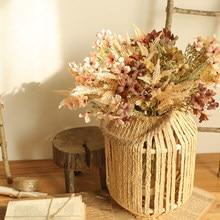 Bouquet de fleurs en plastique, Simulation réaliste et heureuse, fleurs sèches artificielles, décoration de fond de Photo de mariage, SQ0207