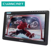 DVB-T2 de télévision Portable tdt 12 pouces télévision numérique et analogique mini petite voiture TV NS-1003D pour moniteur prise en charge HDMI PVR H.265 AC3