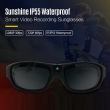 Sunglasses Mini Camera FHD 1080P IP55 Waterproof Outdoor Sports UV400 Wearable Eyewear Video Recorder Action Glasses Camera
