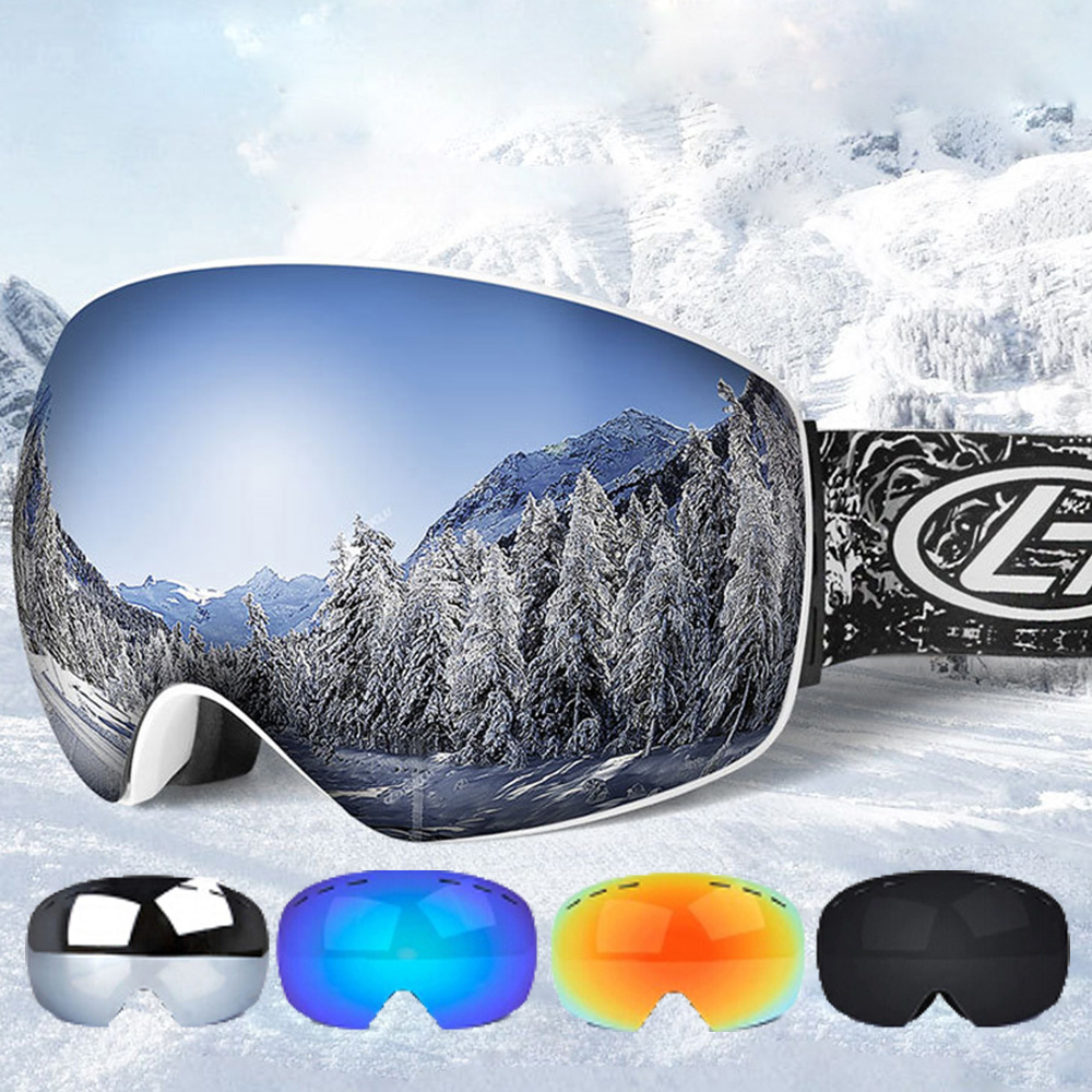 Ski Goggles Double Layers UV400 Anti-fog Snowboard Glasses For Men Women Winter Snow Ski Mask Skiing Eyewear