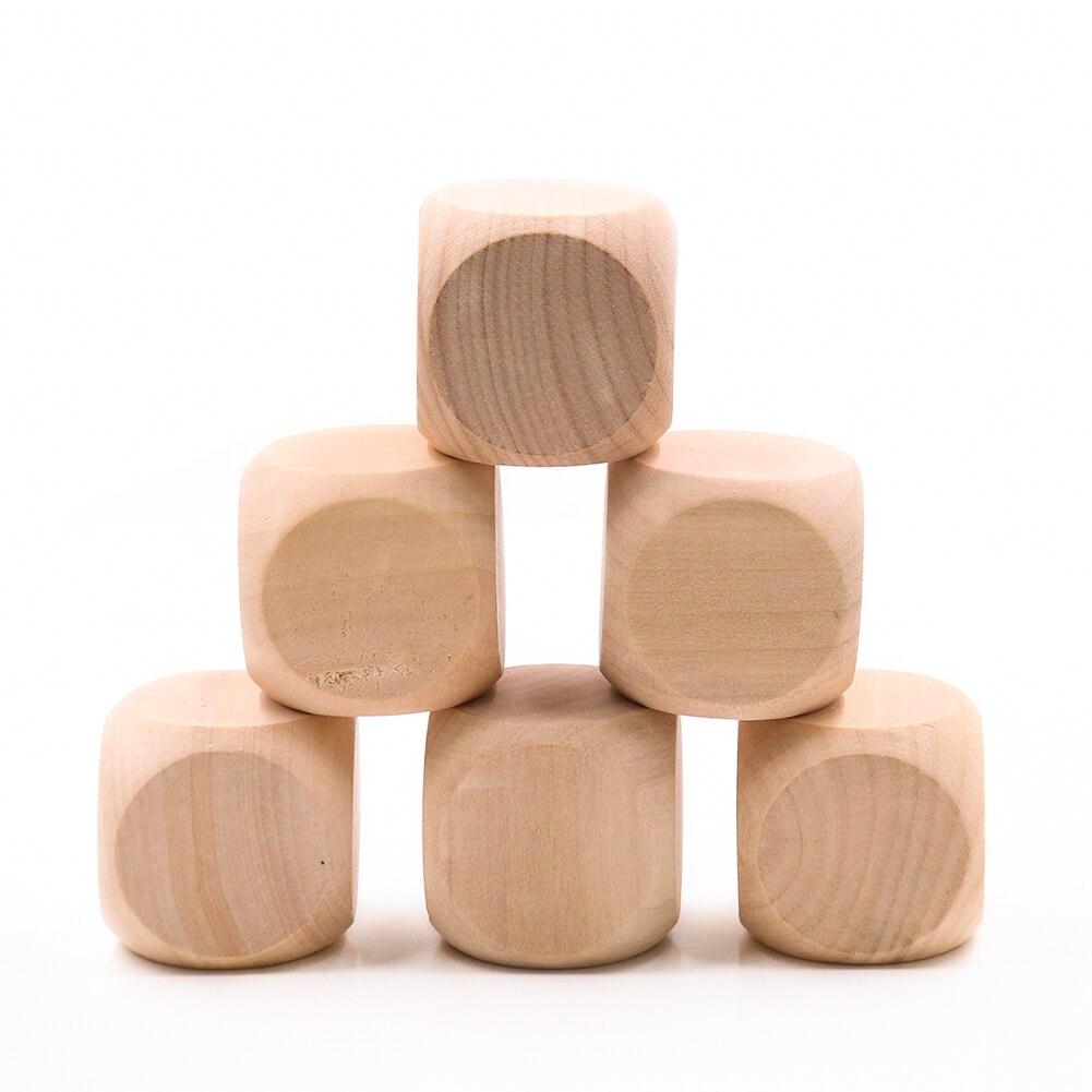 Деревянные игральные кости, 40 мм, 6-сторонние, пустое дерево, сделай сам, ремесла вечерние вечеринка, Семейная Игра, печать, гравировка, детск...