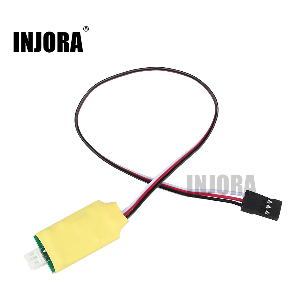 INJORA RC Car Winch CH3 Control Line Panel For 1/10 RC Crawler Car Axial SCX10 Traxxas TRX4 TAMIYA CC01 MST CFX