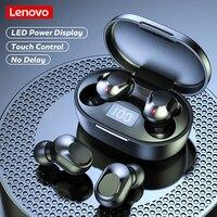Lenovo-auriculares inalámbricos XT91 TWS, cascos originales con Bluetooth, Control táctil, música, reducción de ruido, resistentes al agua, con micrófono