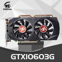 Tarjeta gráfica VEINEDA GTX 1060 3GB 192Bit GDDR5 Tarjeta de Video GPU PCI-E 3,0 para nVIDIA Gefore Series de juegos más fuertes que GTX 1050Ti