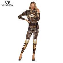 Vipファッション高品質の新長期袖ジッパースーツコスプレ衣装スチームパンクパーティー衣装コスプレ
