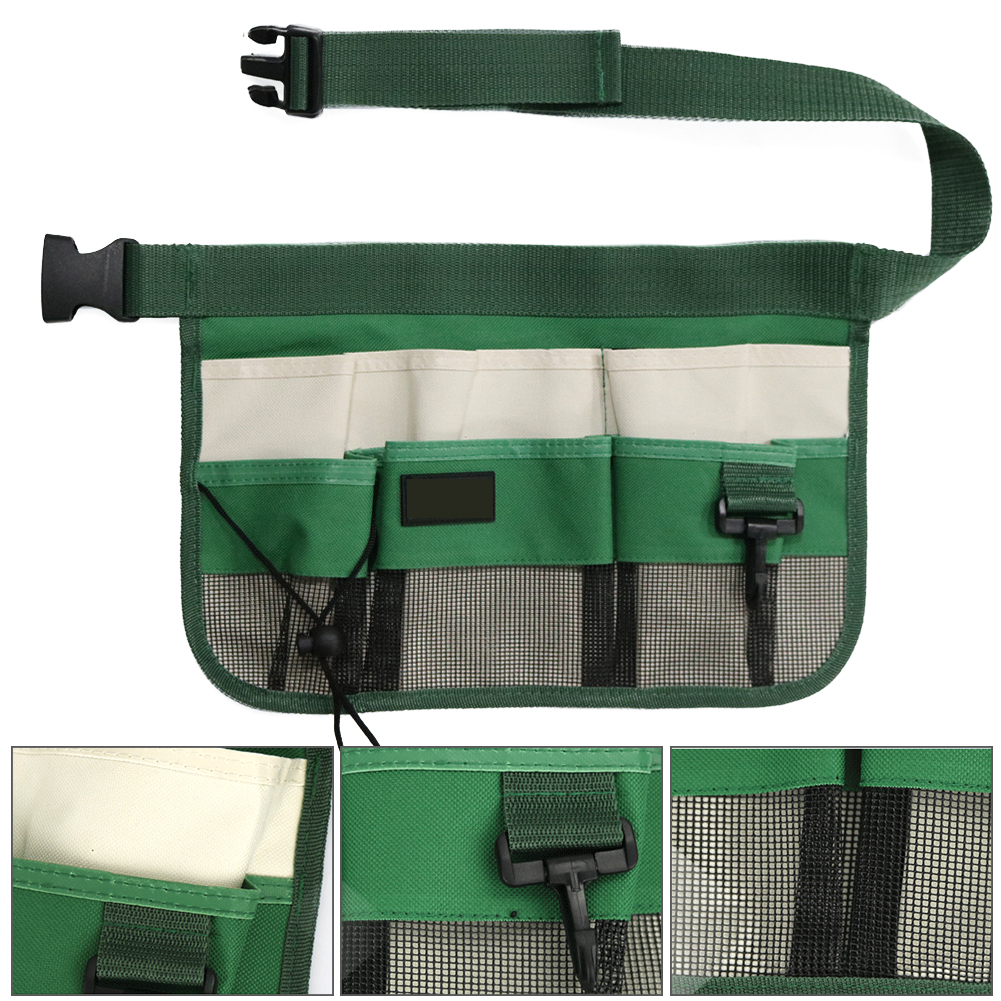Carrying Pouch Home Cleaning Multi-pockets Apron Screwdriver Waist Tool Bag Restaurant Adjustable Belt Oganizer Oxford Cloth