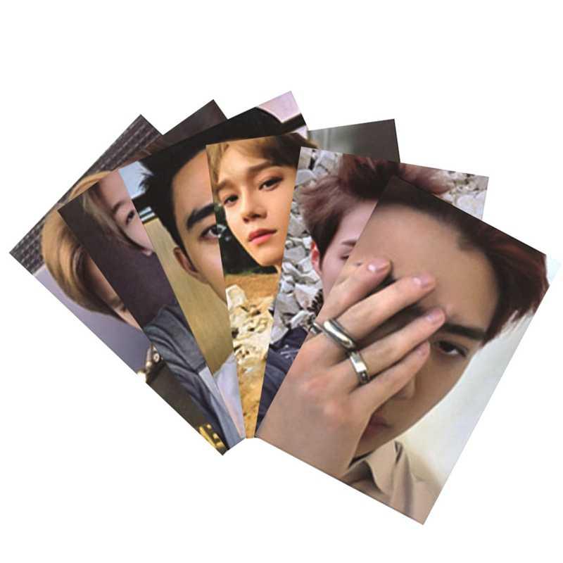 8 ピース/ロット KPOP EXO ない混乱私テンポアルバムフォトカードヒップホップ自己紙カード直筆 Photocard