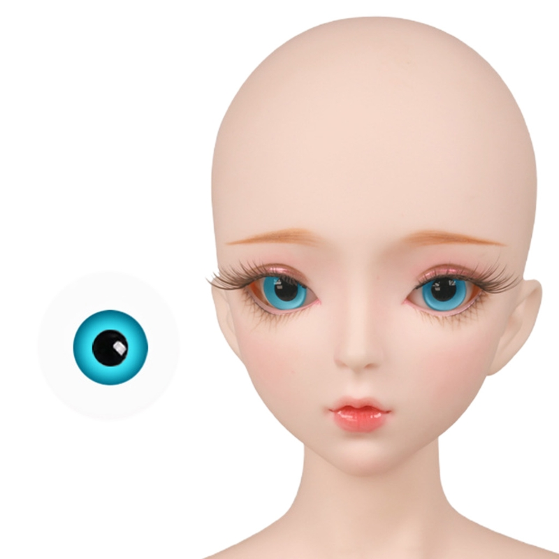 For Bjd Eyeball 14mm Glass Material Green Blue Eyes Suitable For 1/3 1/4 Doll Accessories 31