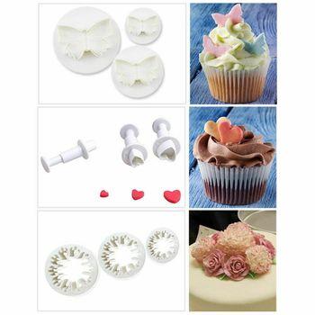 31pcs Plunger Fondant Cutter Cake Tools Cookie Mold Biscuit Mould DIY Craft 3D Bakeware Sets new