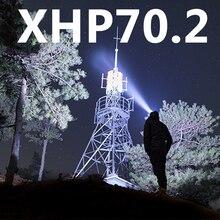 XHP70.2 yeni gelmesi en güçlü Led far far XHP50.2 yakınlaştırma kafa lambası güç bankası 7800mah 18650 pil Z90 + 2063